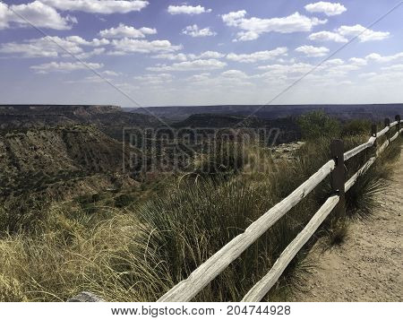 overlooking Palo Duro Canyon in the panhandle of Texas near Amarillo