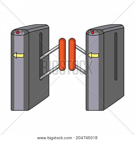 Turnstile, single icon in cartoon style.Turnstile vector symbol stock illustration .
