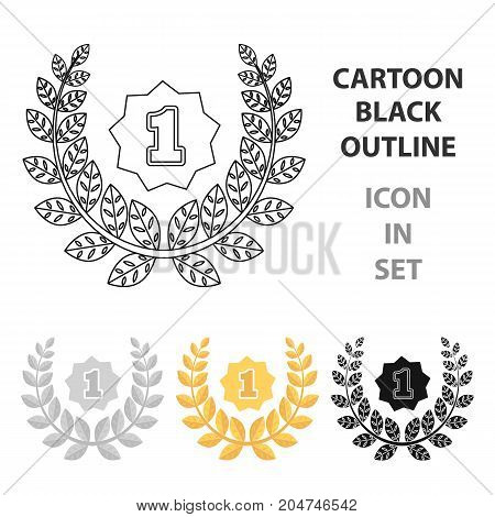 A Golden wreath from the metal.The reward for first place.Awards and trophies single icon in cartoon style vector symbol stock web illustration.