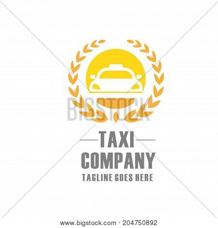 elegant and modern Taxi logo  sign Abstract classic modern Illustration