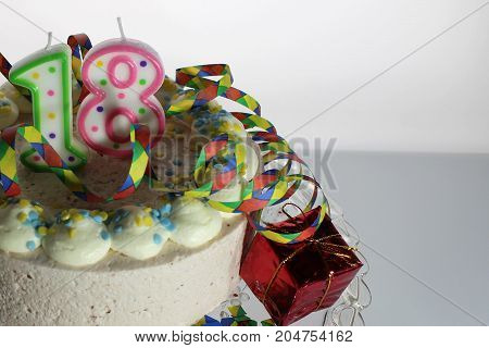 An Image of a birthday cake - 18th birthday