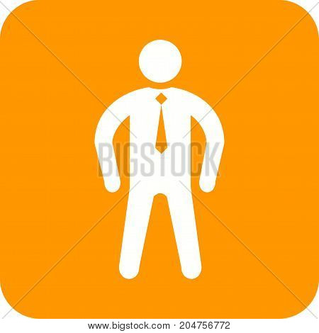 Confident, person, success icon vector image. Can also be used for Personality Traits. Suitable for web apps, mobile apps and print media.