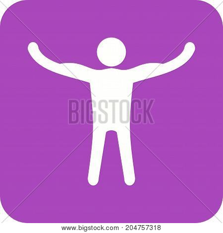 Strong, muscle, healthy icon vector image. Can also be used for Personality Traits. Suitable for web apps, mobile apps and print media.