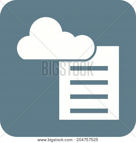 Cloud, reporting, server icon vector image. Can also be used for Data Analytics. Suitable for web apps, mobile apps and print media.