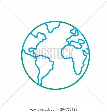 line nice earth planet and natural ecology vector illustration