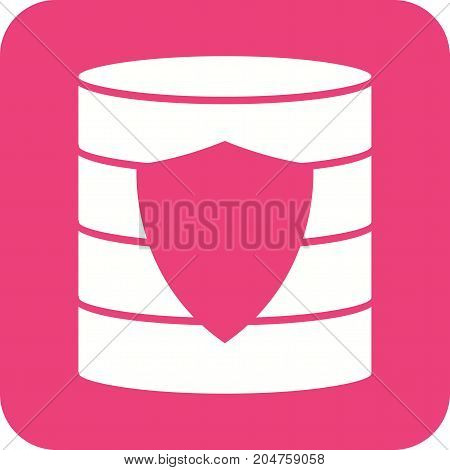 Data, backup, security icon vector image. Can also be used for Data Analytics. Suitable for mobile apps, web apps and print media.