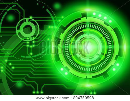 Mechanical abstract background on green background.illustration design.