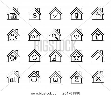 Premium set of house line icons. Simple pictograms pack. Stroke vector illustration on a white background. Modern outline style icons collection.