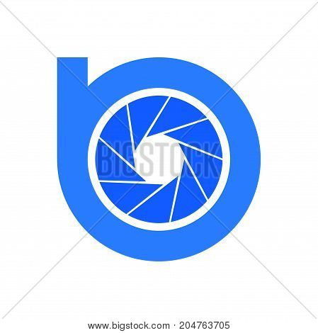 b photography logo design, circle photography logo design