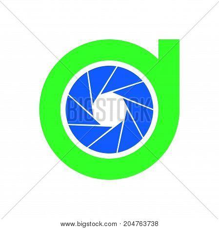 d photography logo design, circle photography logo design