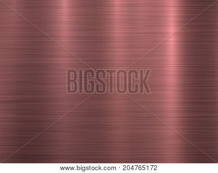 Rose, pink, bronze metal abstract technology background with polished, brushed texture, chrome, silver, steel, aluminum, copper for design, web, prints, wallpapers, interfaces. Vector illustration.