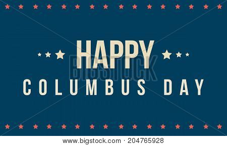 Columbus day on blue background vector illustration