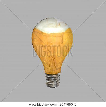 Beer is always a good idea: a lightbulb full of beer