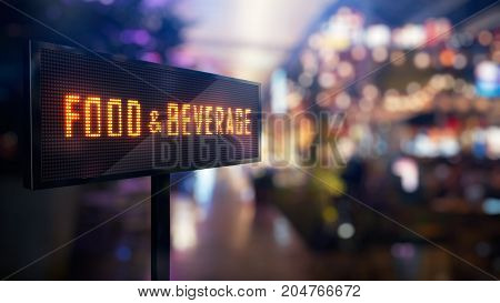 LED Display - Food and beverage signage (Photo + 3D Rendering)