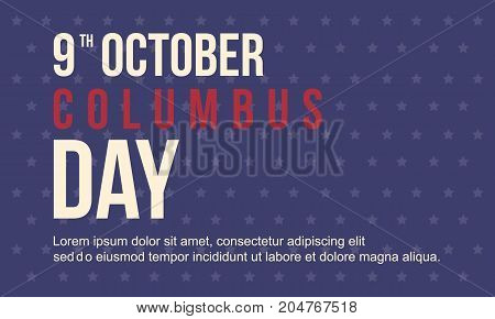 Collection Columbus day card style vector illustration