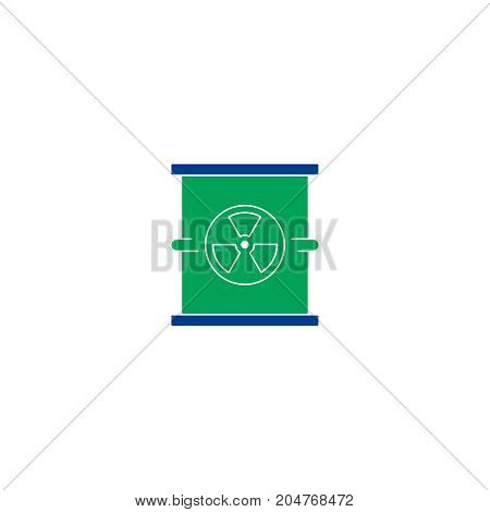 Radiation flat icon. Single high quality symbol of line radioactive vector for web design or mobile app. Color sign of energy for design logo. Single pictogram on white background