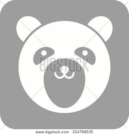 Bear, cub, polar icon vector image. Can also be used for Animals Faces. Suitable for mobile apps, web apps and print media.
