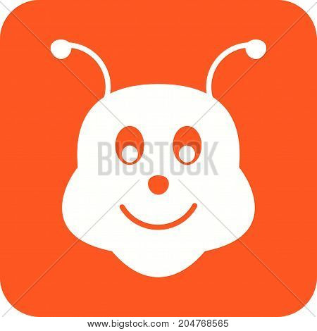 Honeybee, bee, honey icon vector image. Can also be used for Animal Faces. Suitable for mobile apps, web apps and print media.