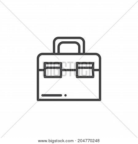 Toolbox line icon, outline vector sign, linear style pictogram isolated on white. Symbol, logo illustration. Editable stroke