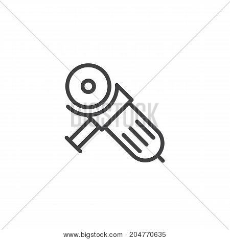 Circular saw line icon, outline vector sign, linear style pictogram isolated on white. Symbol, logo illustration. Editable stroke