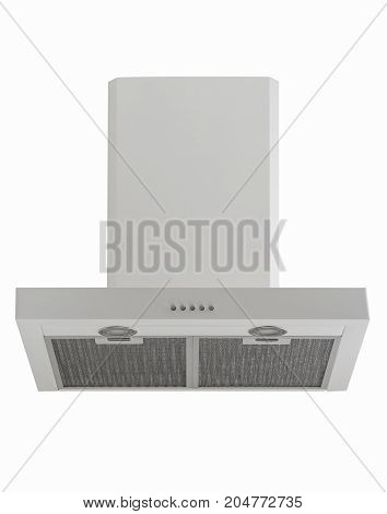 Kitchen Hood On A White Background