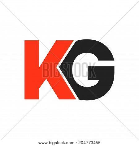 kg initial logo design, letter initial logo design
