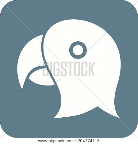 Parrot, flying, bird icon vector image. Can also be used for Animals Faces. Suitable for mobile apps, web apps and print media.