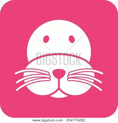Sea, lion, water icon vector image. Can also be used for Animal Faces. Suitable for mobile apps, web apps and print media.
