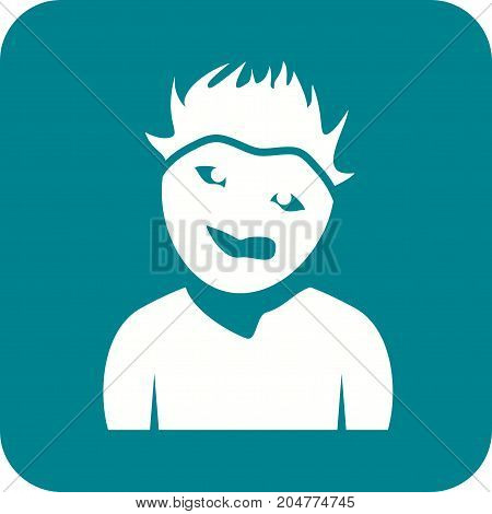 Man, face, weird icon vector image. Can also be used for Avatars. Suitable for mobile apps, web apps and print media.