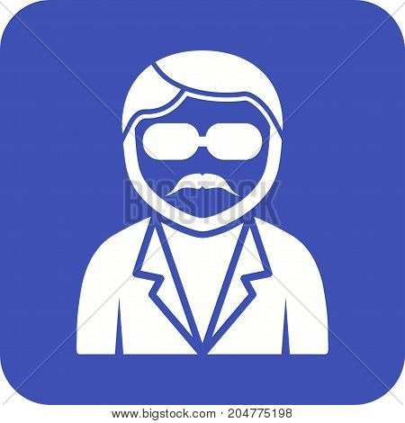 Glasses, boy, fun icon vector image. Can also be used for Avatars. Suitable for use on web apps, mobile apps and print media.