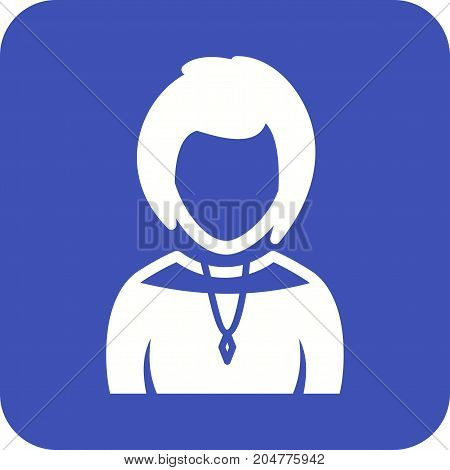 Necklace, chain, diamond icon vector image. Can also be used for Avatars. Suitable for web apps, mobile apps and print media.