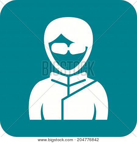 Ninja, girl, martial icon vector image. Can also be used for Avatars. Suitable for use on web apps, mobile apps and print media.