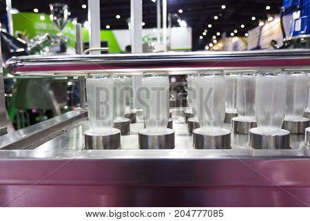 Bottles In Washing Process