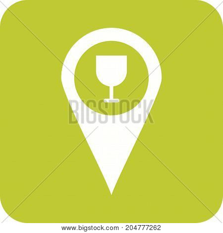 Location, bar, map icon vector image. Can also be used for Cafe and Bar. Suitable for mobile apps, web apps and print media.