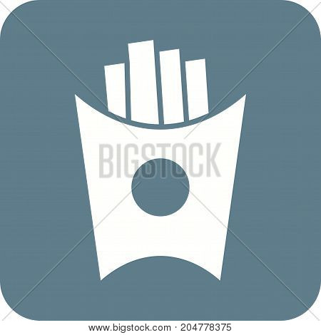 Fries, snack, potato icon vector image. Can also be used for Cafe and Bar. Suitable for use on web apps, mobile apps and print media