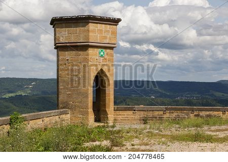 View Of Famous Hohenzollern Castle, Ancestral Seat Of The Imperial House Of Hohenzollern And One Of