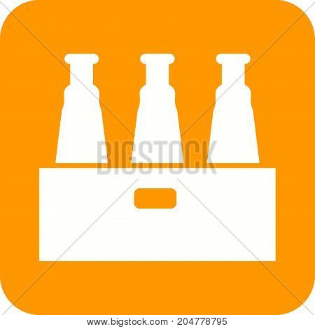 Beers, pack, box icon vector image. Can also be used for Cafe and Bar. Suitable for use on web apps, mobile apps and print media.