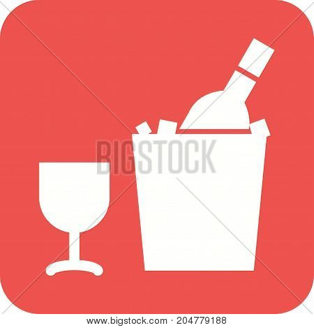 Wine, bottle, alcohol icon vector image. Can also be used for Cafe and Bar. Suitable for use on web apps, mobile apps and print media.