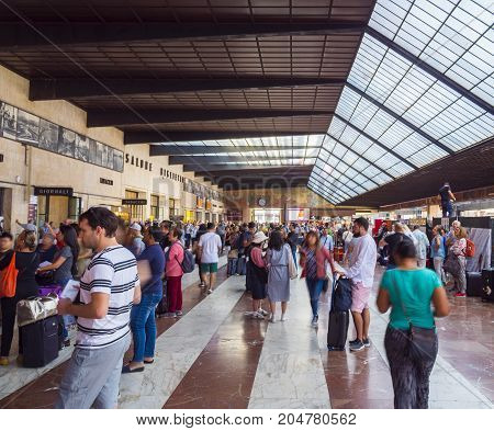 Florence Central Train Station SMN - FLORENCE TUSCANY ITALY - SEPTEMBER 13, 2017