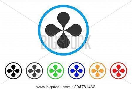 Map Pointers rounded icon. Style is a flat map pointers gray symbol inside light blue circle with black, gray, green, blue, red, orange variants. Vector designed for web and software interfaces.