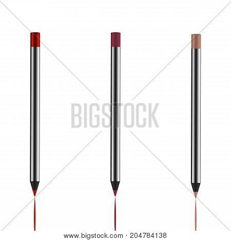 Eyeliner Pencil. Makeup.  Cosmetics. Realistic 3D Mock-up Of Cosmetics. Vector Illustration Design.