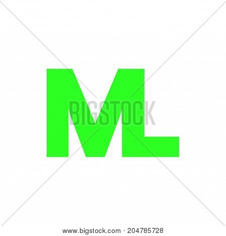 ml initial logo design, letter initial logo design