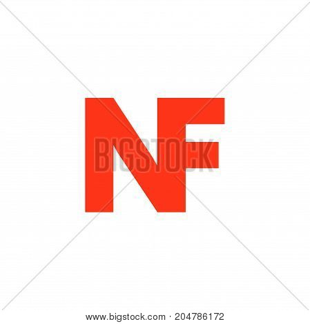 nf initial logo design, letter initial logo design