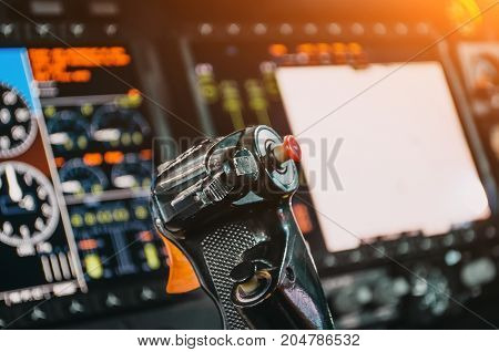 Steering Wheel, Aircraft, Pilot's Control Cabin, Dashboards