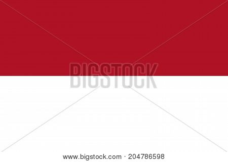 Indonesia flag. National flag of Indonesia, vector