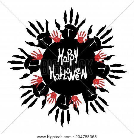 Halloween Zombie Palm Logo