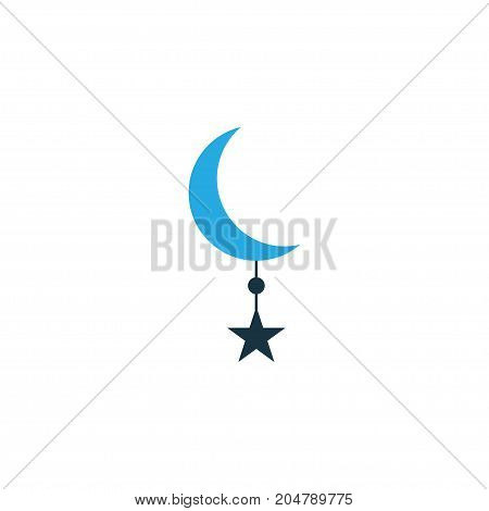 Premium Quality Isolated Crescent Element In Trendy Style.  Star Colorful Icon Symbol.