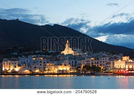Cadaques Sunset. Romanticism In The Mediterranean Sea. The Village Of Salvador Dali, In Costa Brava,
