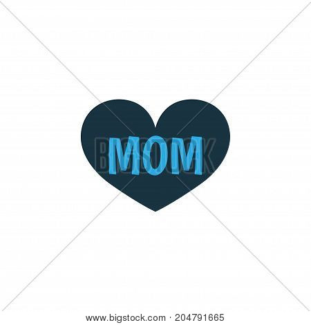 Premium Quality Isolated Mum Element In Trendy Style.  Mom Colorful Icon Symbol.