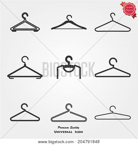 Hanger, sale, buy Hanger icon set illustration
